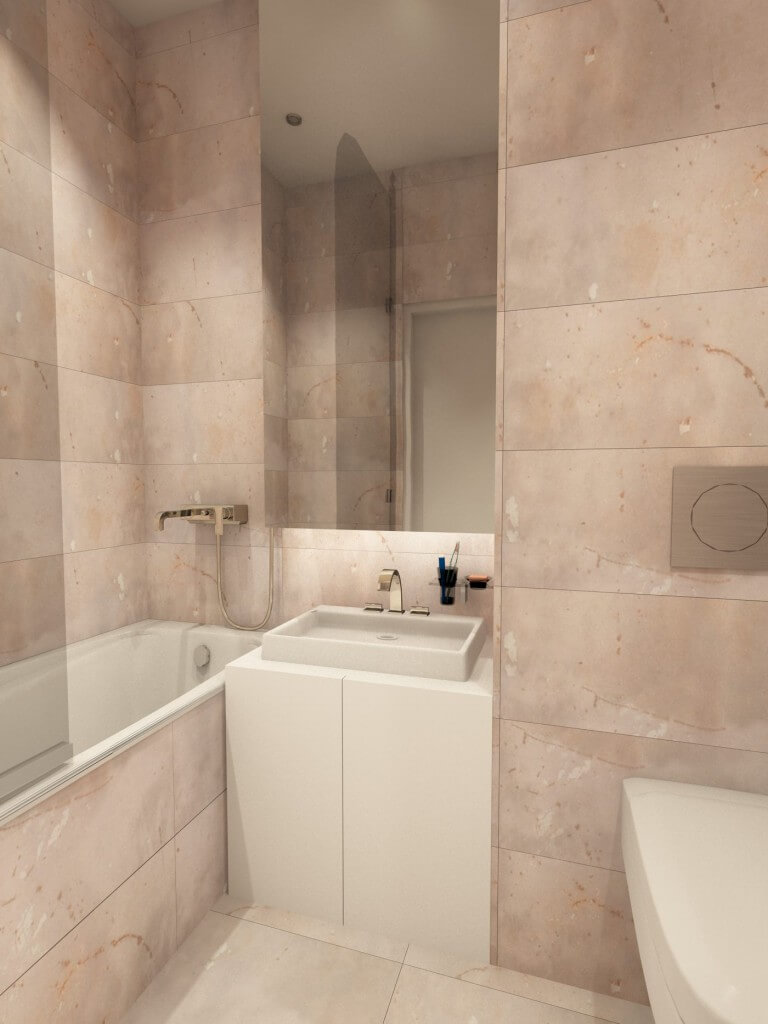 Дизайн ванной. Проект Марии Белько