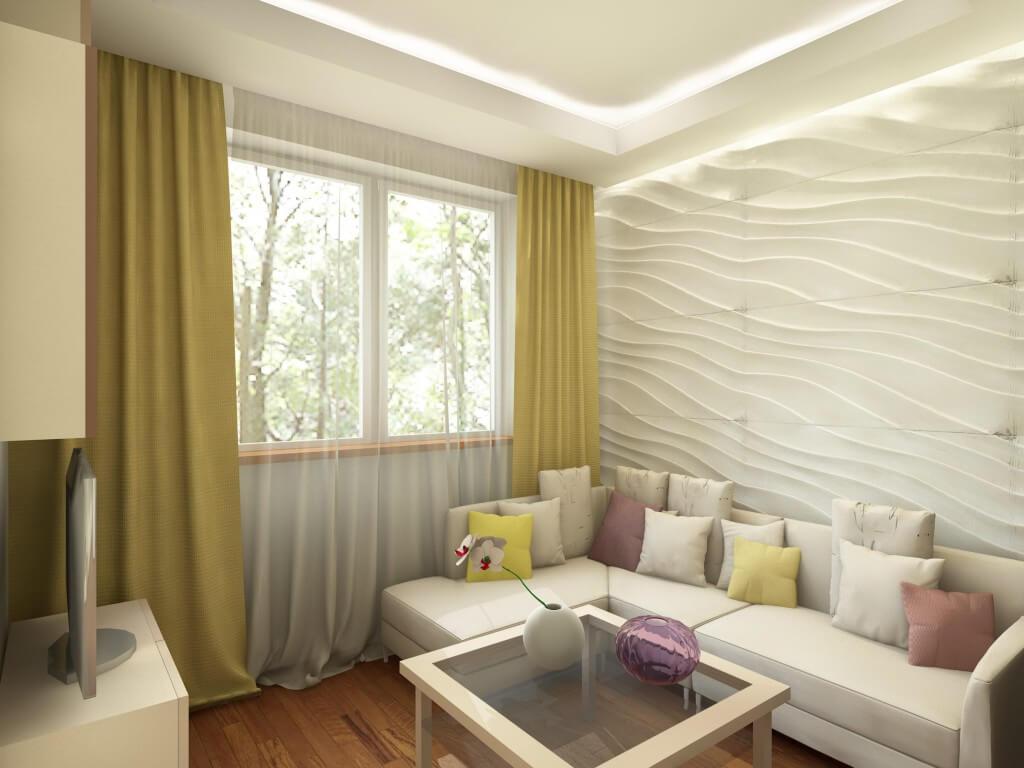 Гостиная в квартире. Дизайн-проект Марии Белько